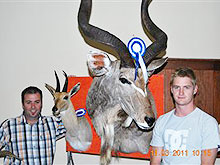 Student of 2009 (Paul Smith from Relive Africa Taxidermy) - 1st Prize Tasa trophy competition 2011